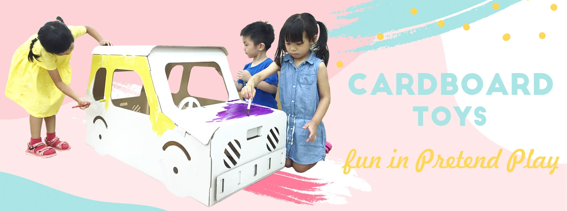 cardboard toys, playhouse